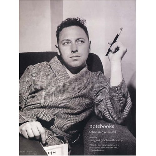 Tennessee Williams in robe
